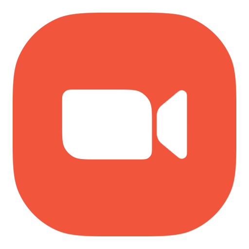 Orange Video Zoom Icon