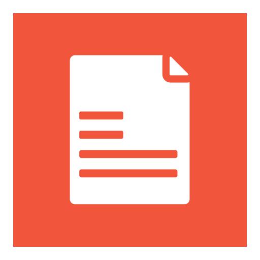 Orange Written Text Print or Article Icon